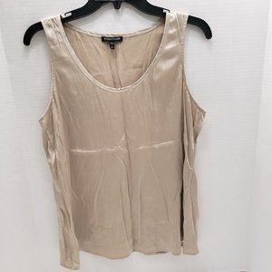 Eileen Fisher Silk sleeveless tank blouse beige M